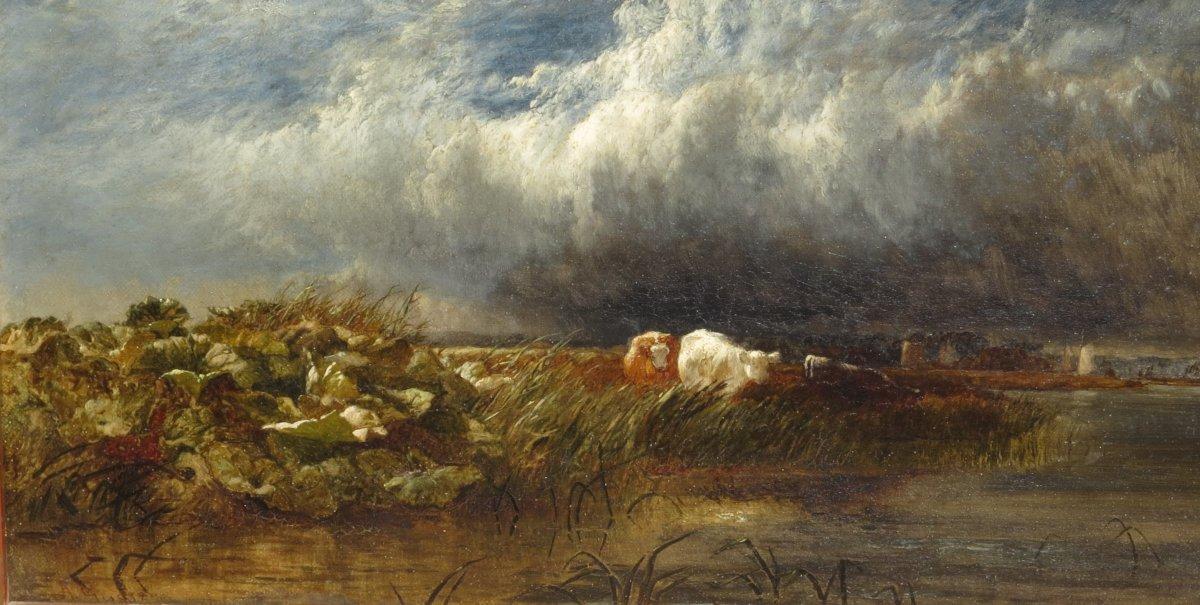Arthur Gilbert (119/1895) The Thames Near De Chiswick 1852-photo-4