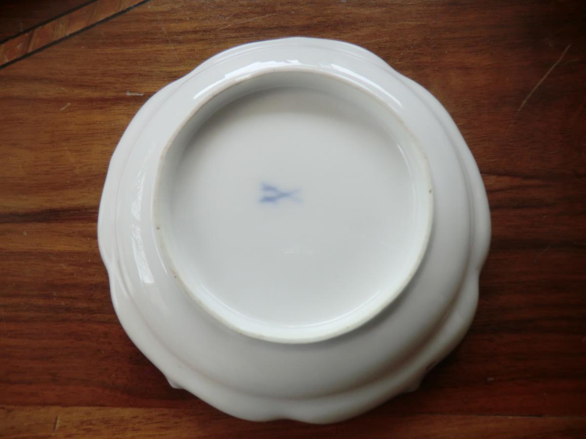 Coupelle En Porcelaine De Meissen 18è-photo-2