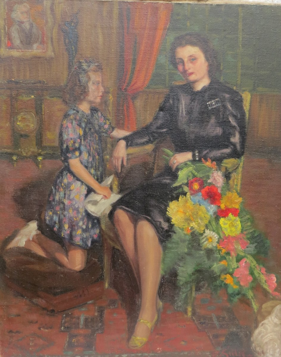 Mother And Daughter In Meneac By Pierre Gilles (1913 Meneac / 1993 Rennes)