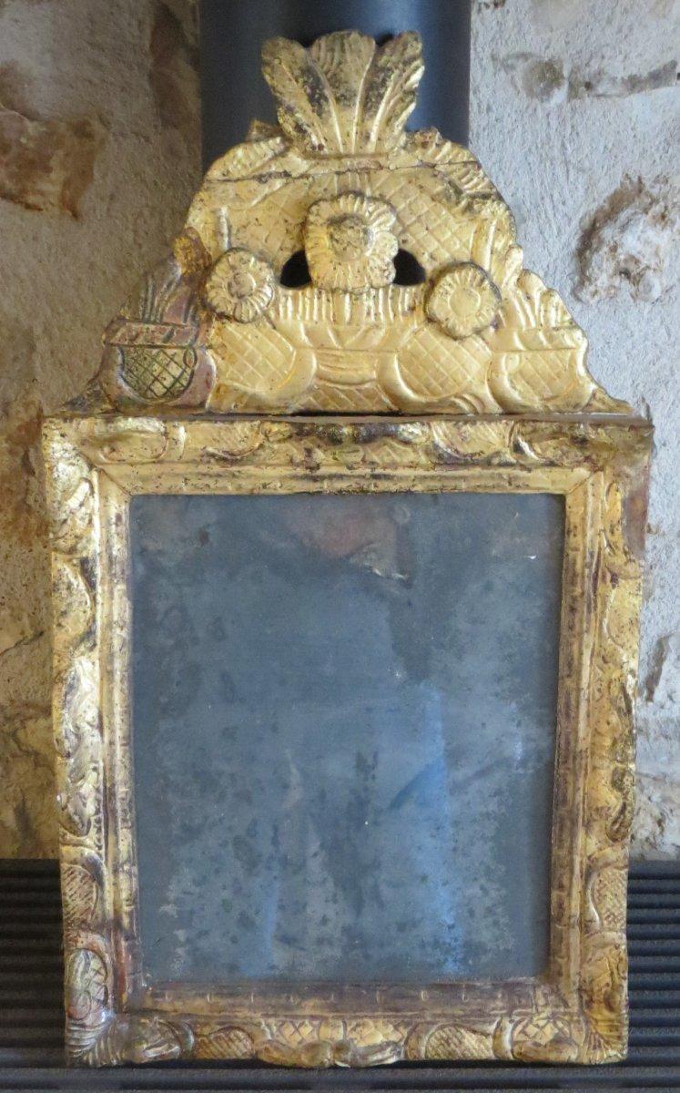 Haute Epoque Mirror Gilded With Leaf
