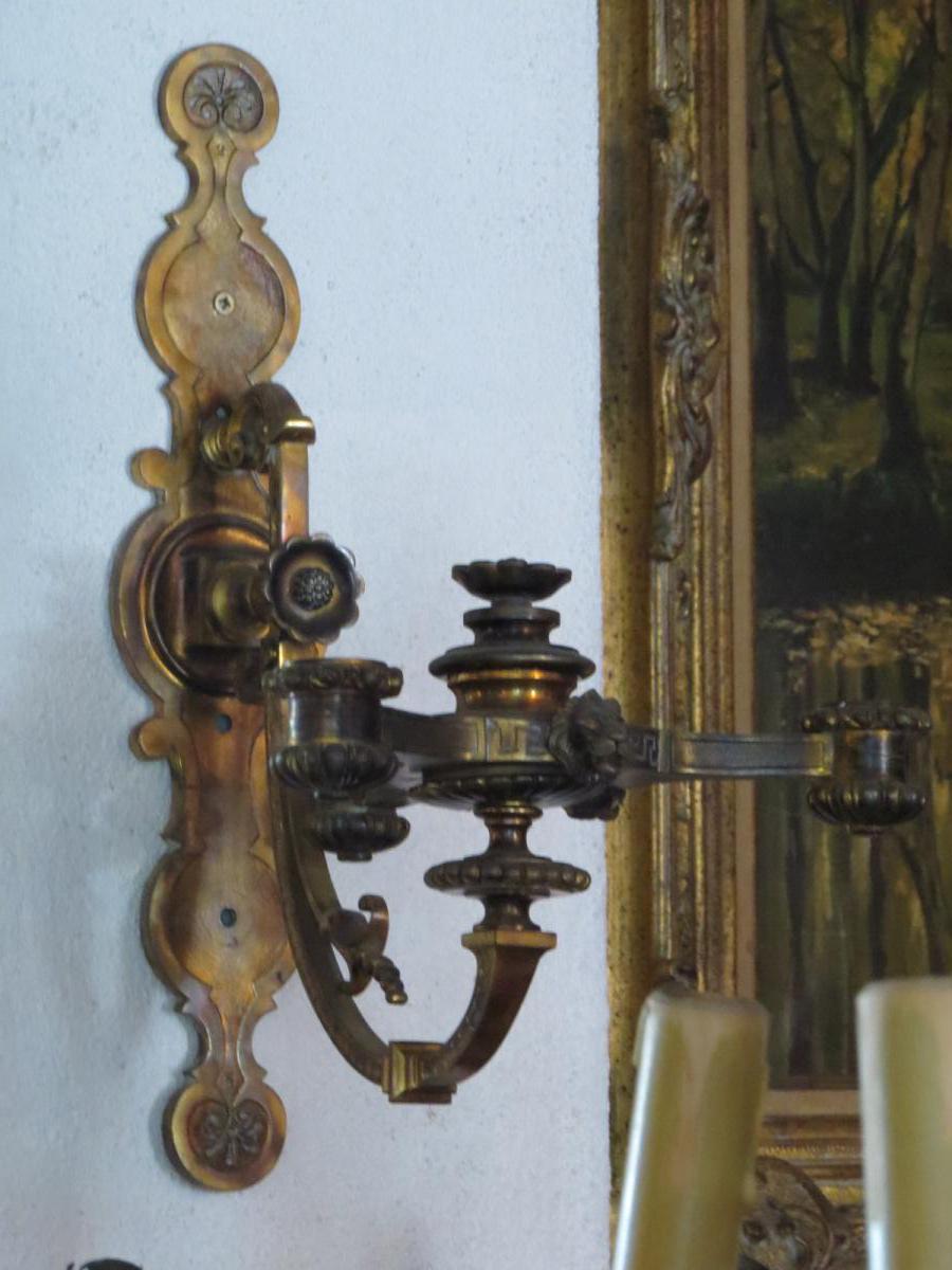 applique en bronze sign e victor paillard appliques. Black Bedroom Furniture Sets. Home Design Ideas