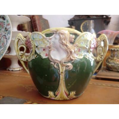 Cache Pot Art Nouveau d'Onnaing