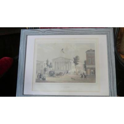 Lithographie U.s. Custom House Philadelphia Par August Kolner