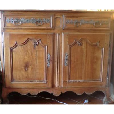 Period Buffet Louis 14 With Fittings To Lys Flower
