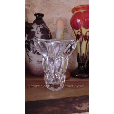 Grand Vase En Verre Attribué A Pierre d'Avesn