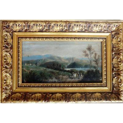 Peinture Paysage Signée Sauvage 1864