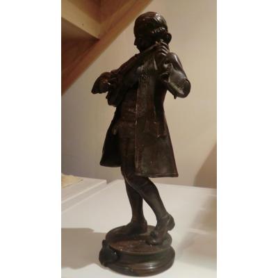 Mozart Accordant Son Violon Par A Gaudez