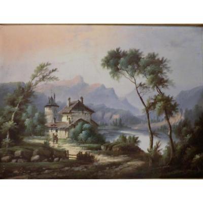 tableau Paysage Animé Signe J Mary