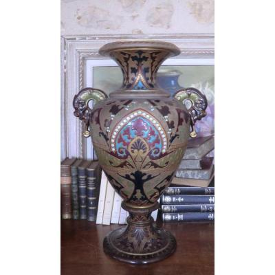 Large Vase Gres De Sarreguemines