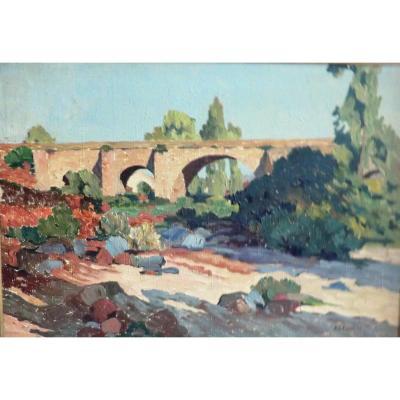 Tableau Paysage Du Sud Est De La France Signé A G Feulie 1926