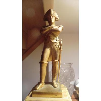 Statue Napoleon Bronze Doré Empire