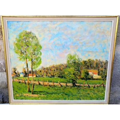 Paysage Impressioniste Signe Georges Ferro La Gree
