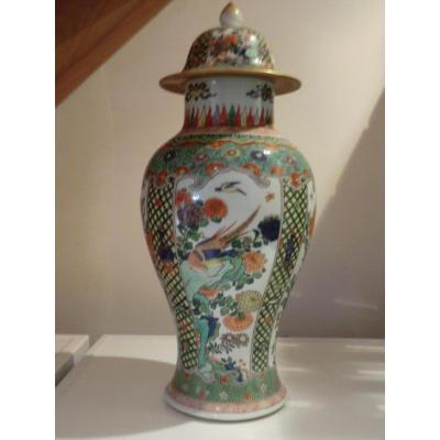 Vase Famille Verte Decor Phenix