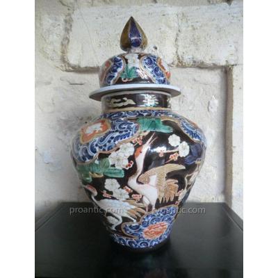potiche en porcelaine dans le gout de la chine ou du japon