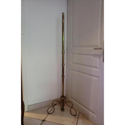 Floor Lamp In Bronze Art Deco