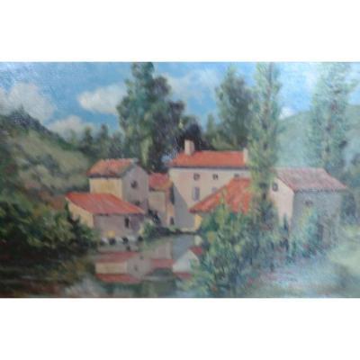 Paysage Perigord Dordogne Signé Montbesson