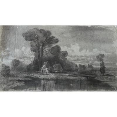 Drawing Landscape Attr A Gustave Lying