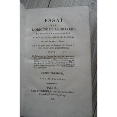 Origine De La Gravure En Bois F Schoell 1808 Charl lenormand
