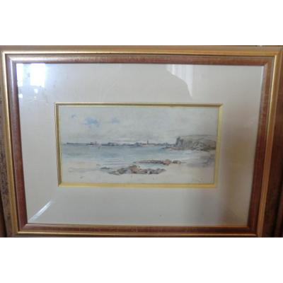 Marine View Of Port Signed J Arlin