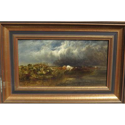 Arthur Gilbert (119/1895) The Thames Near De Chiswick 1852