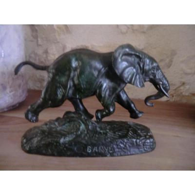 Elephant Du Senegal Barye