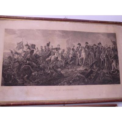 Gravure Empire La Bataille d'Austerlitz Godefroy 1813