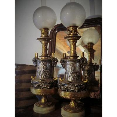 Lampes Bronze Victor Paillard