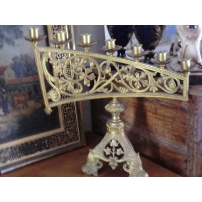 Chandelier Religieux Bronze Dore