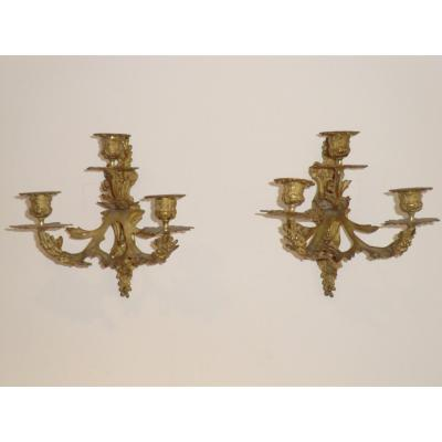 appliques style louis 15 en bronze doré