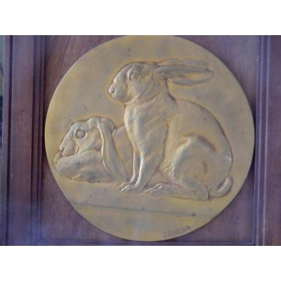 Médaille De Chasse Lièvres Par jacques Cartier(1907/2001)