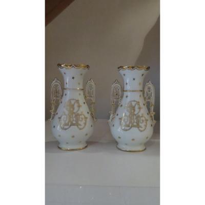 Limoges Porcelain Vases La Seynie Saint Yriex La Perche