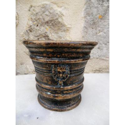 Mortier En Bronze Epoque 16/17è Siècle