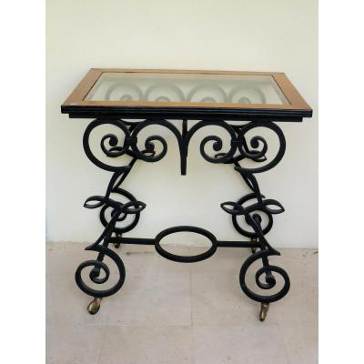 Table Art Deco Wrought Iron