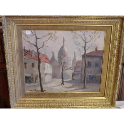 Tableau Montmartre Henri Lapoujade