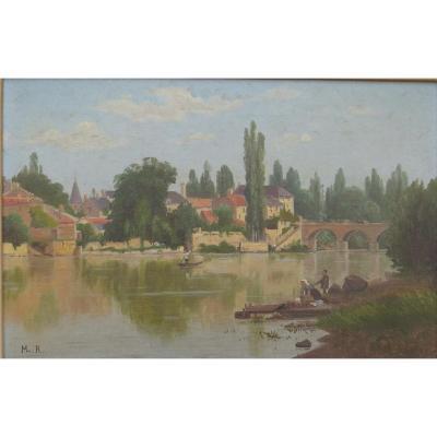 Village Bord d'Auvezere Or Dordogne
