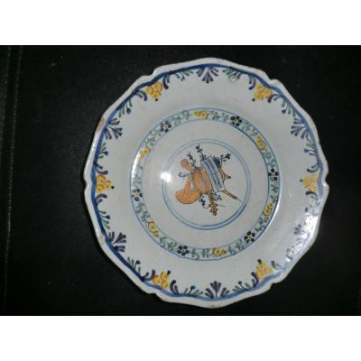 Assiette En Faience Revolutionnaire Nevers Fin 18è