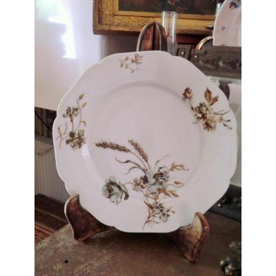 Assiette En Porcelaine Theodore Haviland Limoges