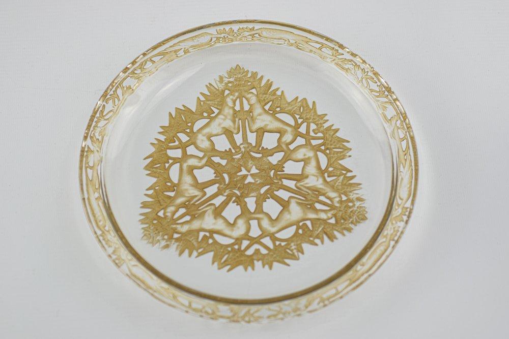 Assiette René Lalique Chasse Chiens-photo-5