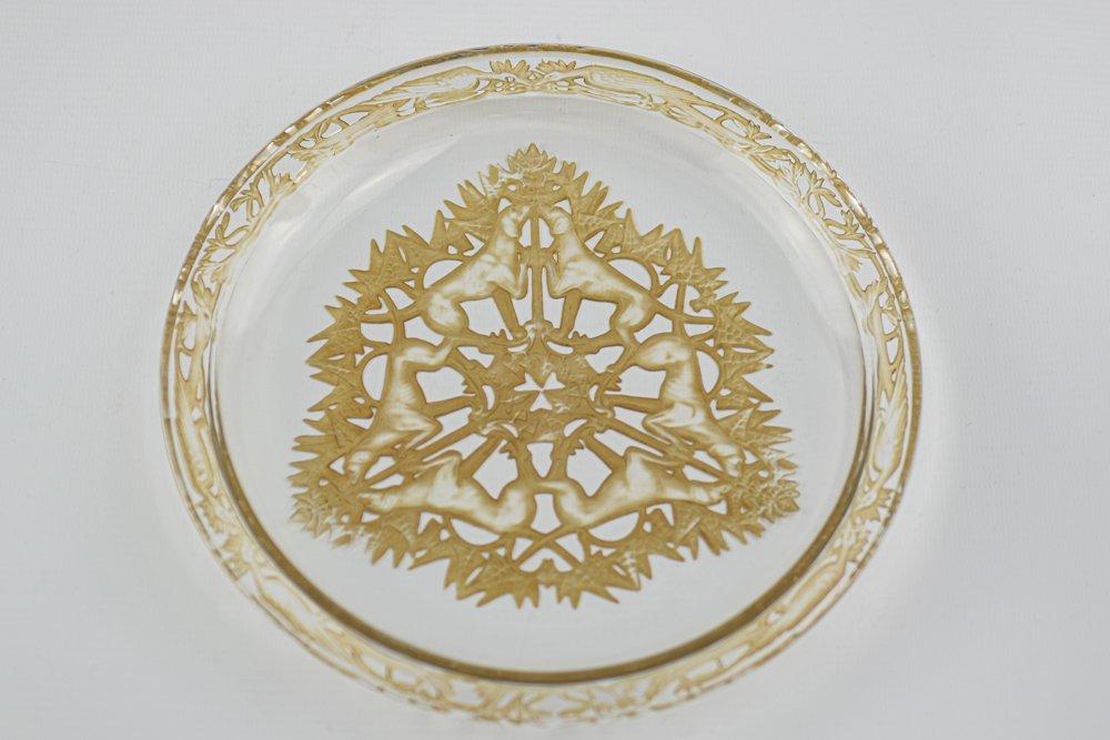Assiette René Lalique Chasse Chiens-photo-6