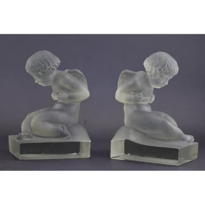 Serre-livres René Lalique Amour