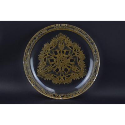 Assiette René Lalique Chasse Chiens