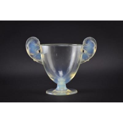 Vase Opalescent René Lalique Belier