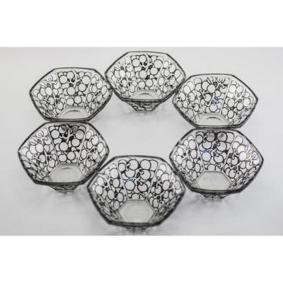Set De 6 Bols Raisins, Six Pans René Lalique