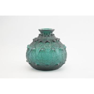 Rene Lalique Green Fougeres Vase
