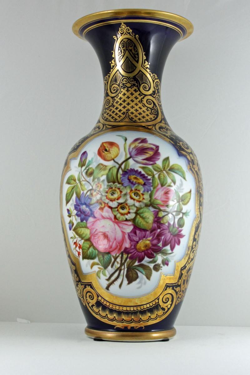 Vase Porcelaine De Valentine, Décorateur Henri Fouque