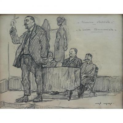 Jean Lefort, Dessin Au Crayon