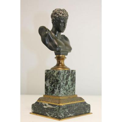 Sculpture Buste En Bronze Hermès Par Pinedo