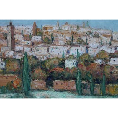 Peinture Jr Sourgen, Village De Rabat
