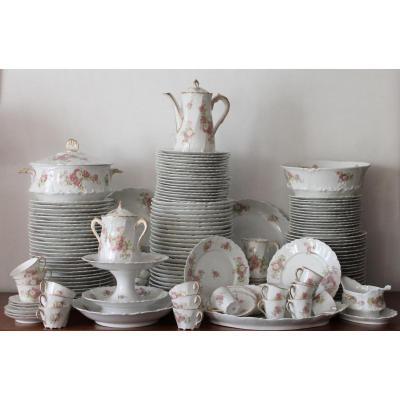 Service Vaisselle De Table Limoges roses Anciennes Fin XIXe