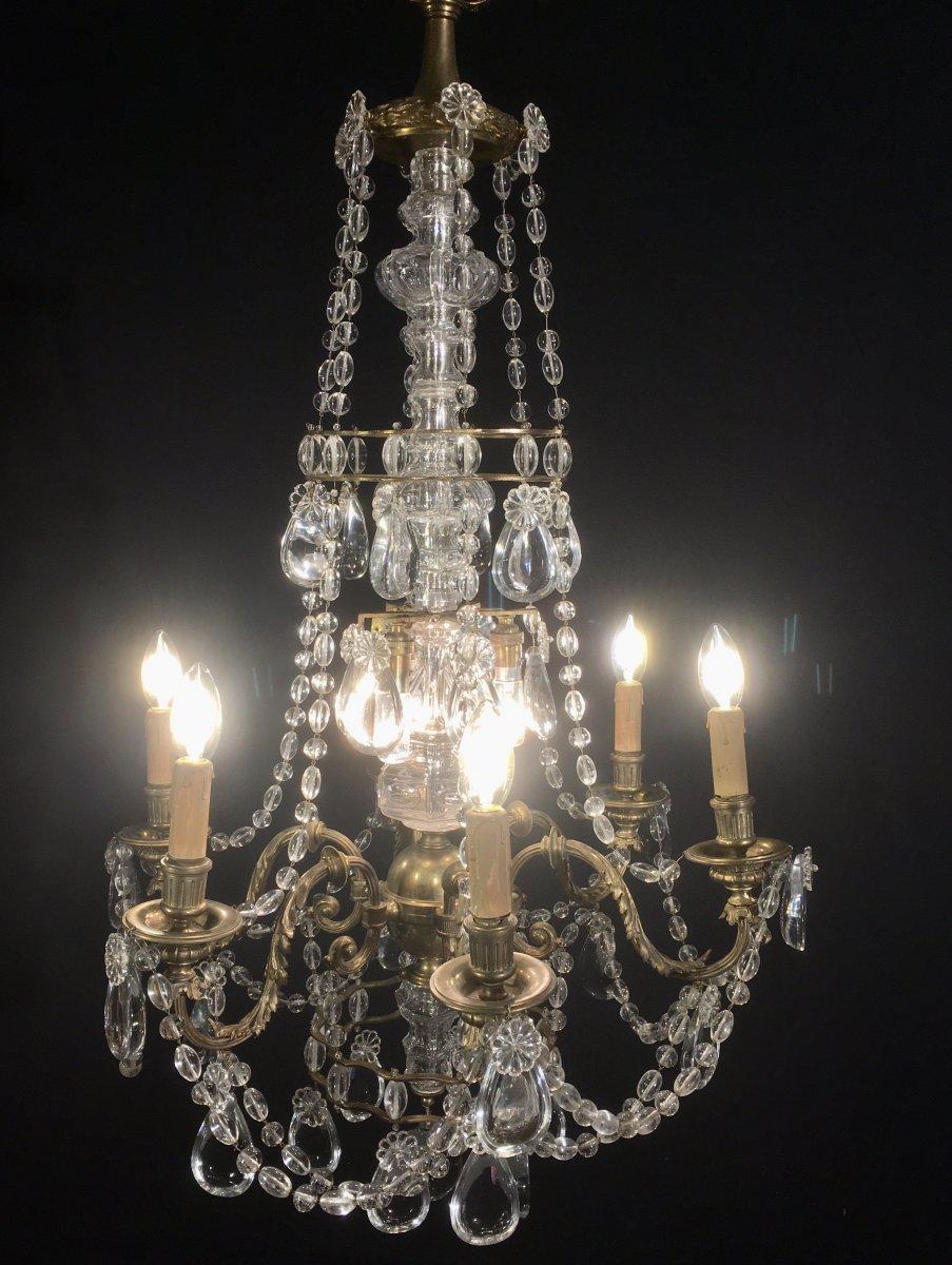 Nine Lights Crystal Chandelier